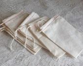 50 cotton cloth bag 3x5 Natural favor bag gift bag