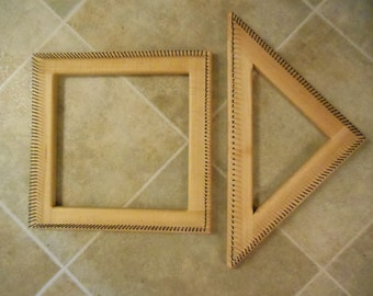 12 inch square and 12 inch triangle looms
