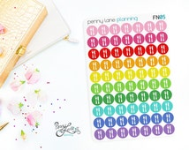 Meal Plan Planner Stickers // FN05 // Removable Matte Planner Stickers