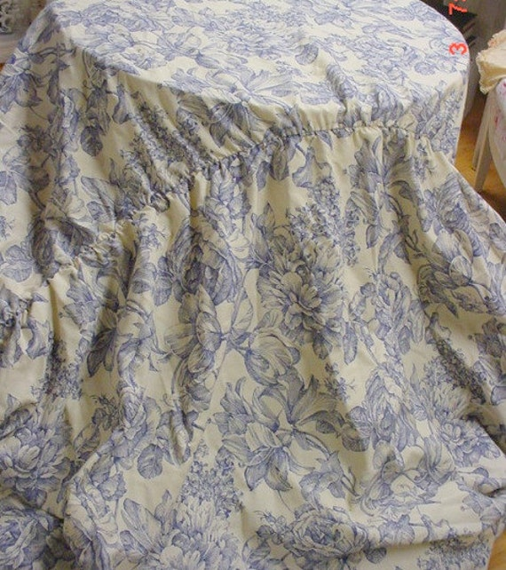 Toile Sofa Cover Sofacover Surefit Blue Toile French Country