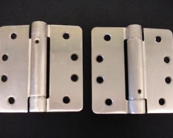 2 Heavy Duty Door Hinges Fixed Pin Stainless Steel Door hinges