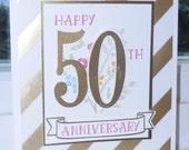 Gold or Silver Anniversary Card or Invitation