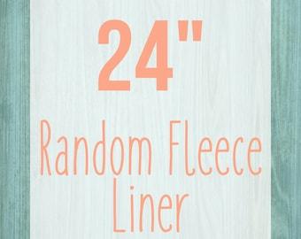 "Random Fleece Cage Liner - 24"" - Choose Your Size"