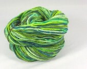 Garden greens. Hand painted soft merino yarn  10ply Worsted  100 grams 3.5 ounces