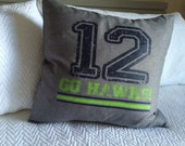 Seahawks 12th Man 18 x 18 pillow cover