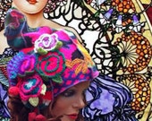 Awesome hat Retro Folk made of existing materials