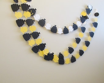 Beehive paper garland- bees/hives what will it bee, baby showers, beebee showers, mommy to bee, beeday party, birthday paper garland