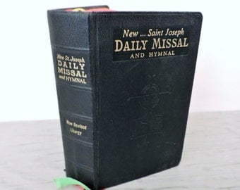 Vintage Missal - New...Saint Joseph Daily Missal and Hymnal - 1966 - Catholic Prayer Book - Vintage Bible