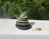 Lovely Little Beach Stone Stack 7 (9) Natural Ocean Rocks Zen Stones Zen Garden Sculpture Terrarium Yoga Meditation Gift Home Decor Balance