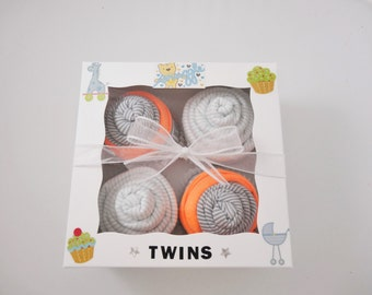 Twin Boy Baby Gift 12 piece set  - Twins Gift