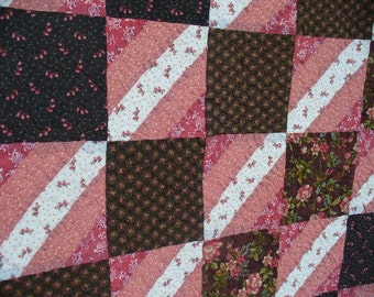 Coral Floral Queen Size Quilt