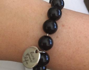 Live your life black bracelet