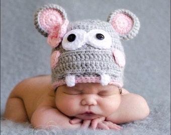 Crochet Hippopotamus Hat