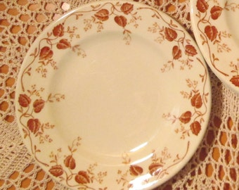 Lot of 6 Mayer China Restaurant Ware Bread Plates in Pembroke Pattern