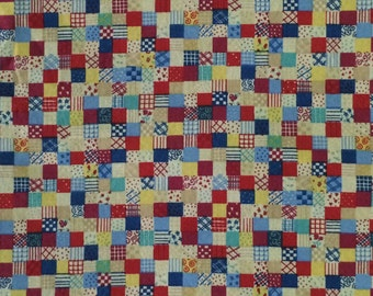 Cotton Fabric / Postage Stamp Cotton / Quilting Fabric / Cheater Quilt Fabric / Cheater Cloth Fabric / Cotton Quilting Fabric