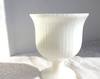 CIJ Sale Home Decor Vintage Milk Glass Vase E.O. Brody Planter Wedding Decor