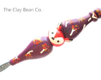 Ergonomic Fall Fox Crochet Hook- Boye size F