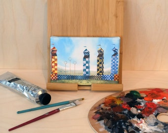 Mini Canvas of Quidditch Pitch from Harry Potter
