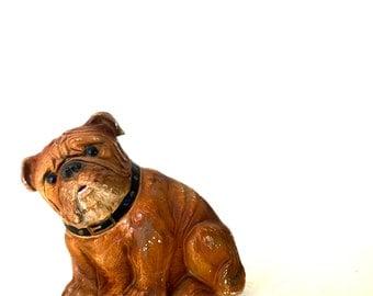 Vintage chalk-ware  dog statue