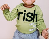 "Swanky Shank Gender Neutral Hand-Dyed Green ""IRISH I was a little bit taller"" Bodysuit or Tee"
