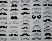 Mustache fabric 100% Cotton Quilting Sewing 1 yard