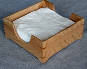 Handmade Wooden Napkin Holder Made out of Solid Cherry - Free Shipping