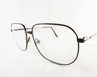 Mens Bronze Eyeglasses, Metal Glasses, Square Glasses, Mens Frames, Big Eyeglasses