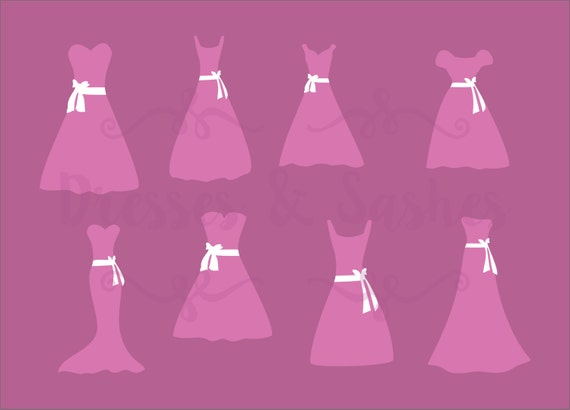 1 dxf file bridesmaid dress clipart dress clipart dress