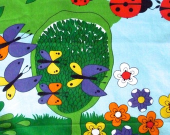 Ladybird Cartoon Print Cotton Fabric Vintage Wilson Fabric