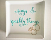 RINGS and sparkly things decorative tray - perfect for nightsand or vanity!