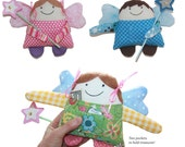 Pattern PDF for Tooth Fairy Angel Boy & Girl and Magic Wand Instant Download Fairy Angel Doll