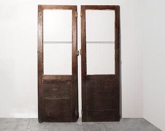 Pair of Antique Cabinet Doors c.1900