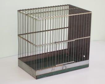 Vintage Wire Metal Bird Cage