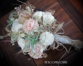 Wedding Bouquet, Sola wood Bouquet, Woodland Dried Bouquet, wild flowers bouquet, Bridal Bouquet, Sola flowers, Alternative Bouquet, Rustic