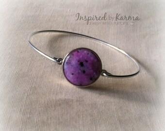 Purple Quartz Bangle Bracelet,stacking bangles,Quartz Bracelet,Gemstone Bracelet,Silver Bangle,Gemstone Bangle,Stacking Bracelets, Quartz