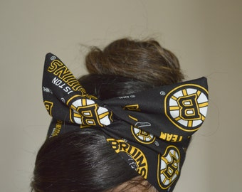 Boston Bruins, headband, Dolly bow head bands, head band, hair bow