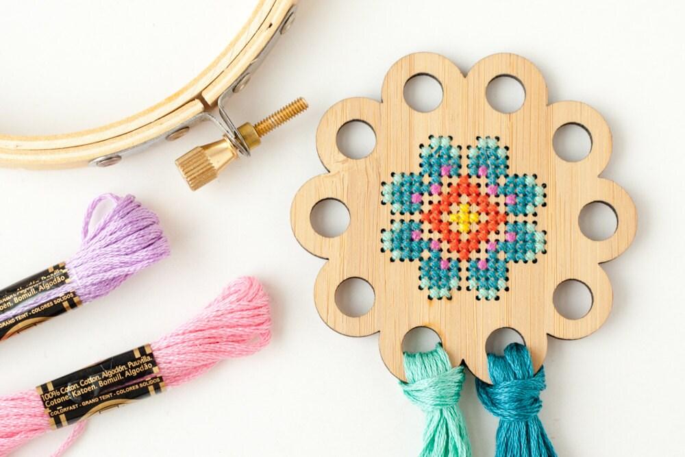 Clearance flower thread holder diy kit embroidery floss