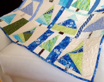 Winter Holiday Tree Quilted Wall Hanging
