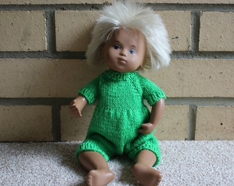 Cute Handknitted Sasha and Gregor Baby Romper