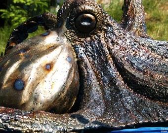 Figgy, the Giant Octopus metal sculpture, indoor/outdoor estate piece