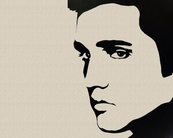 Elvis SVG cut for Cricut and Silhouette machines. eps-dxf-png files also