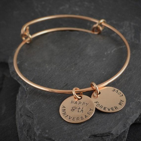 Bronze Bracelet Bangle Bronze Anniversary Bronze 8th
