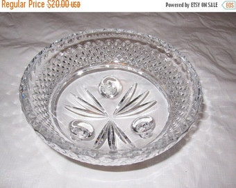 """ON SALE Cut Crystal Footed Bowl 6x3"""""""