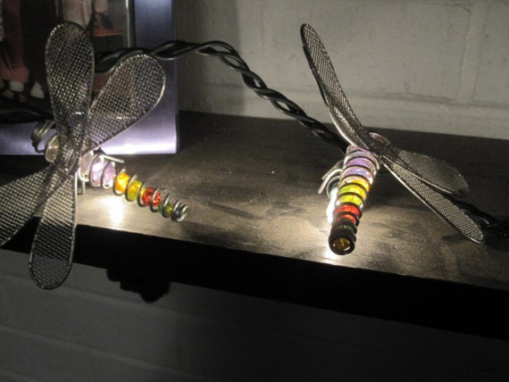 Dragonfly String Lights Outdoor : Dragonfly Light String Indoor Outdoor