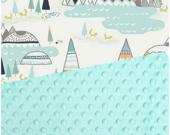 Baby Blanket Indian Sunmer Art Gallery Blanket Carseat Blanket Crib Blanket Aztec Minky Blanket