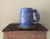 Vintage Blue Air Force Academy Coffee Mug with Blue Falcon from Colorado Springs, CO