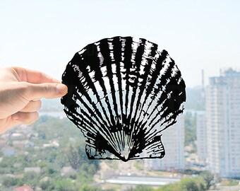Seashell - Handmade Original Paper Cut Home Decor Gift - UNFRAMED
