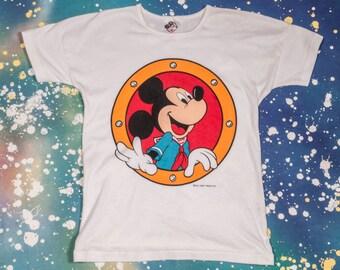 MICKEY MOUSE Disney Cartoon Kids T-Shirt Size M