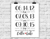 First Day Yes Day Best Day, 8x10, Art Print, Wedding Gift, Engagement Gift, Gallery Wall