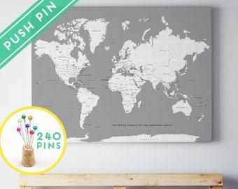 World map canvas | Etsy